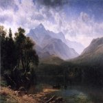 Albert Bierstadt (1830-1902)  Mount Washington  Oil on canvas, 1862  36 x 58 inches (91.44 x 147.32 cm)  Public collection